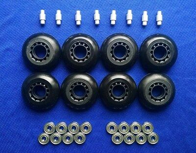 Outdoor Rollerblade Inline Hockey Skate Wheels 70mm 82A Bearings Spacers O