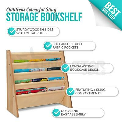 Wooden Bookcase Children Kids Book Shelf Rack Storage Bookshelf Tidy Organizer  • 19.95£