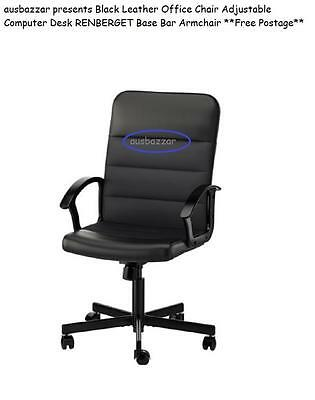 AU129.99 • Buy Black  Office Chair Adjustable Computer Desk RENBERGET Base Bar Armchair