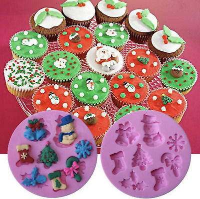 £2.79 • Buy Christmas Santa Silicone Icing Mould Baking Chocolate Cake Topping Tree Mold