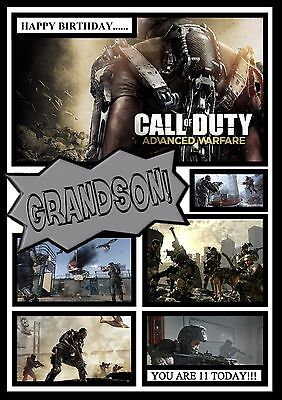 £2.99 • Buy Call Of Duty Personalised A5 Birthday Card Dad Son Grandson Brother Nephew Name