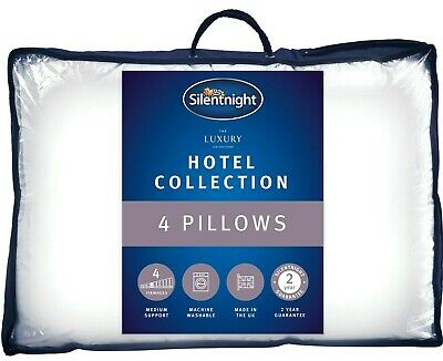 £22.99 • Buy Silentnight Hotel Collection Pillow 4 Pack Luxury Hotel Quality Soft Back Side