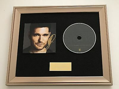 £99.99 • Buy Personally Signed/autographed Michael Buble Nobody But Me Framed Cd Presentation