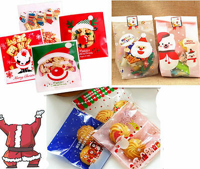 100pcs Snowflake Candy Popcorn Buffet Christmas Food Bags For Wedding XMAS Party • 3.39£