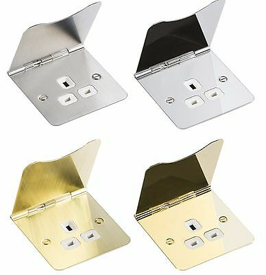 Knightsbridge Flat Plate 13A 13 Amp 1G 1 Gang Unswitched Office Floor Socket • 13.95£