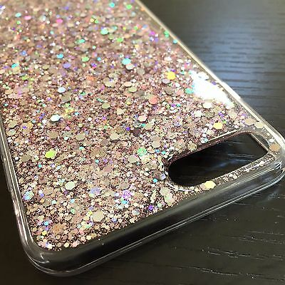 AU9.73 • Buy For IPhone 7+ 8+ Plus - HARD TPU RUBBER GEL CASE COVER PINK SHINY GLITTER SEQUIN