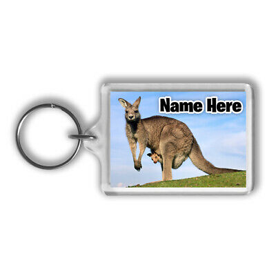 Kangaroos Personalised Keyring / Bag Tag - Animals Wildlife - Gift • 3.29£