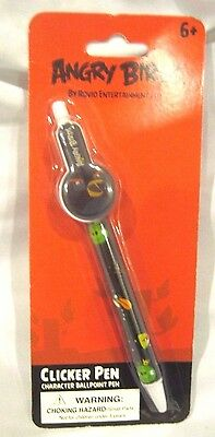 Rovio Angry Birds Bomb Black Bird Clicker Ball Point Character Pen-Brand New! • 7.66£