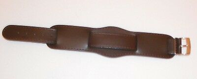£12.99 • Buy Quality 20mm Vintage Military Style Leather Watch Strap - Black Or Brown
