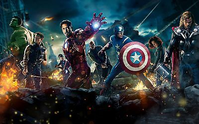 £18 • Buy MARVEL AVENGERS CANVAS ART PICTURE LARGE 18 X 32 Inch  READY TO HANG