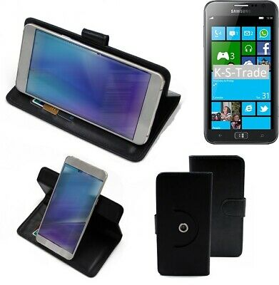 £10.08 • Buy 360° Case For Samsung Ativ S Wallet Case Universal Black Leatherette BookStyle