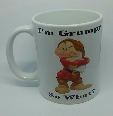 Mr Grumpy Coffee Mug Funny Rude Novelty Cheeky Birthday Gift Christmas Present  • 8.99£