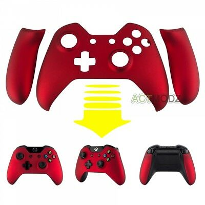 Soft Touch Red Front Shell Faceplate Custom Side Rails For Xbox One Controller • 8.99$