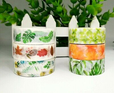 AU2.80 • Buy Japan Washi Tape  - Leaf And Greens Collection 15mmx7m  MT082