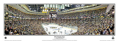 Boston Bruins TD Garden 2011 Stanley Cup Finals Game 3 Panoramic POSTER Print • 39.99$