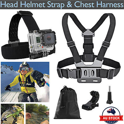 AU13.59 • Buy Head Helmet Strap Chest Harness Mount GoPro 3+ 4 5 6 Go Pro Accessoriess Chesty