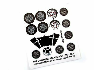 STICKER SET For STAR WARS MODELS, Lego 7778 MILLENNIUM FALCON + Customs Builds! • 4.24£