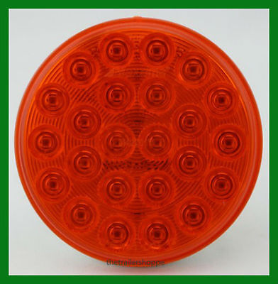 $35.50 • Buy Maxxima 4  Round Grommet Mount 24 Amber LEDs Warning Emergency Flashing Light