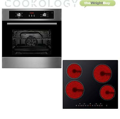 Pack Oven Hob Cookology 60cm Digital Fan Oven & Touch Control Ceramic Hob Pack • 339.99£