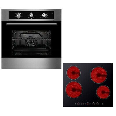 Cookology 60cm Built-in Electric Fan Oven & Touch Control Ceramic Hob Pack • 319.99£