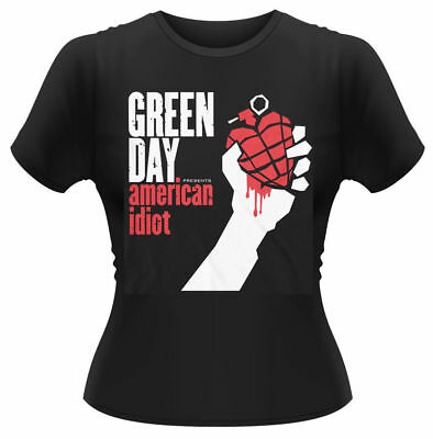£15.49 • Buy Green Day 'American Idiot' Womens Fitted T-Shirt - NEW & OFFICIAL!