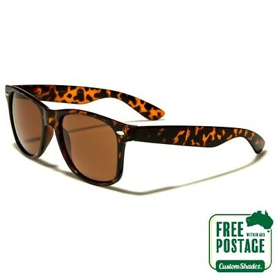 AU9.95 • Buy Classic Retro Sunglasses - Tortoise Shell Frame / Brown Lens - Mens / Womens