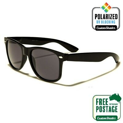 AU14.95 • Buy Polarised Retro Sunglasses - Gloss Black Finish - Mens / Womens - Polarized Lens