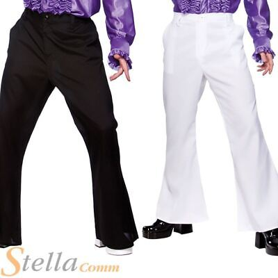 £14.04 • Buy Mens DISCO FLARES 70s Fancy Dress Costume Flare Trousers Saturday Night Fever