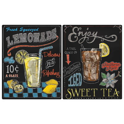 $29.98 • Buy Fresh Iced Drinks Chalkboard Style Wall Decal Set Vintage Style Kitchen Bundle
