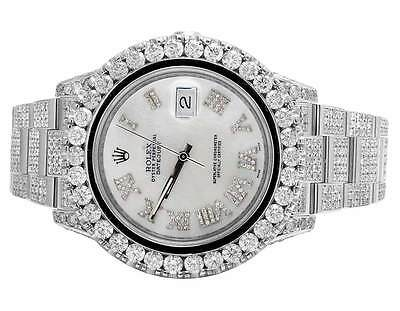 $ CDN27334.67 • Buy Mens Rolex Datejust II Full Iced 41 MM 116300 Stainless Diamond Watch 24.35 Ct