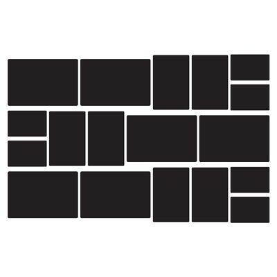 $14.99 • Buy Rectangle Chalkboard Labels Wall Decal Sheet Of 18 Removable Wall Stickers