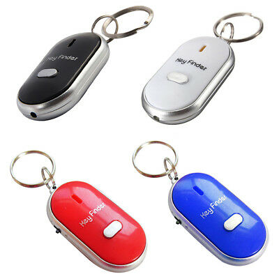 Whistle Lost Key Finder Flashing Beeping Locator Remote Chain LED Sonic Torch. • 2.99£