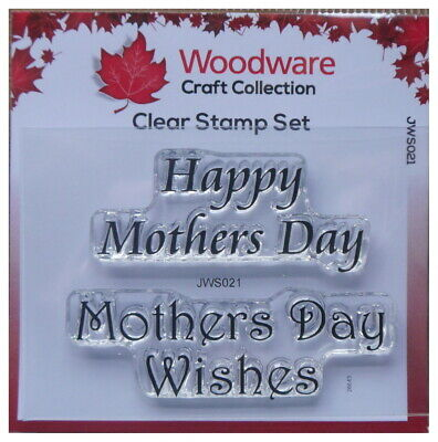 Woodware  Clear Stamp Set HAPPY MOTHERS DAY Mothers X 2 Stamps • 2.65£