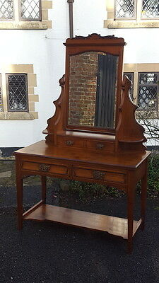 £320 • Buy Stunning Arts & Crafts Edwardian Dressing Table With Mirror & Green Man Handles