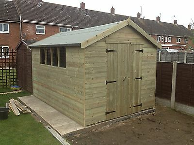 16 X 10 Apex Workshop Shed / Fully Pressure Treated FREE FITTING • 1,900£