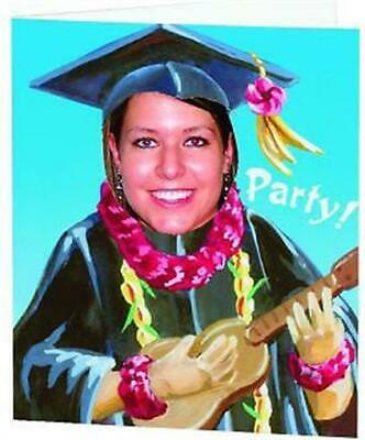 Graduation Luau Photo Invitations 8 Per Pack Grad Graduation Party Photo Invites • 2.04£
