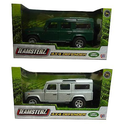 Teamsterz Land Rover 4x4 Defender Die Cast Green Or Silver Model Car Toy New • 5.48£