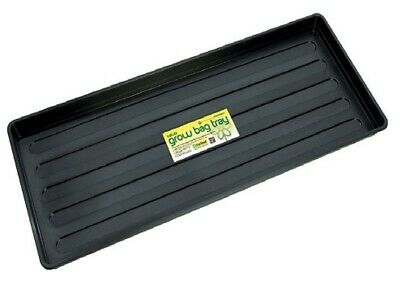 £8.32 • Buy Grow Bag Tray Plastic Black Plant Watering Trays Growbag For Plant Pots Garden