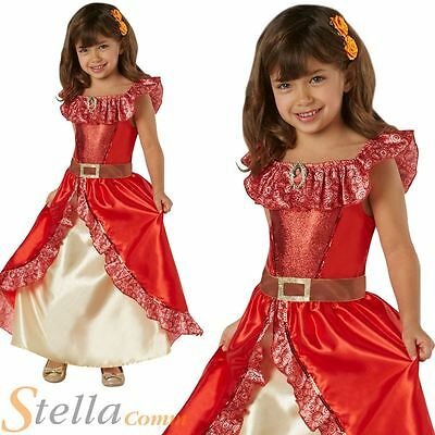 Girls Deluxe Elena Of Avalor Costume Disney Princess Fancy Dress Child Outfit • 21.98£
