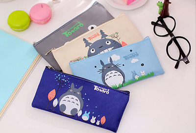 £2.79 • Buy Canvas Totoro Cat Pencil Pen Case School Stationary Cute Fab Gift Kids Party