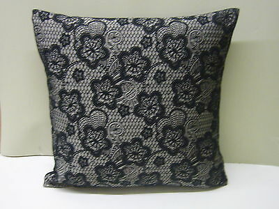 Brand New Black Lace Design Cushion Cover By Evans Lichfield • 6.99£