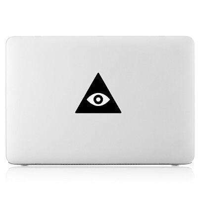 $6.98 • Buy God's Eye Of Providence Triangle Pyramid Vinyl Decal Sticker For Apple Macbook