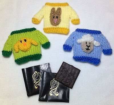 £2.99 • Buy KNITTING PATTERN - Easter Jumper Mint Covers Fits After Eight-Chick, Lamb, Bunny