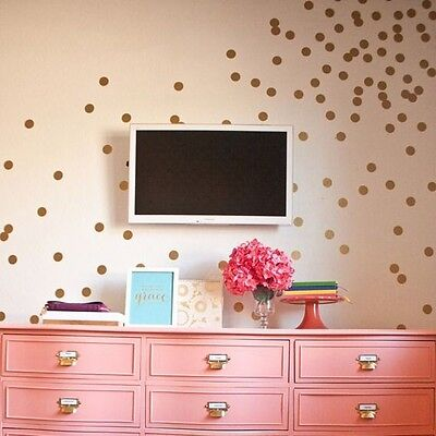 Set Of 60 Polka Dot Wall Stickers Decal Childs Kids Vinyl Art Decor Spots • 2.74£