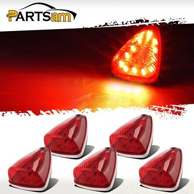 $27.50 • Buy 5xM20311R Red 12 LED Cab Marker Roof Running Clearance Top Lights Truck Bus Boat