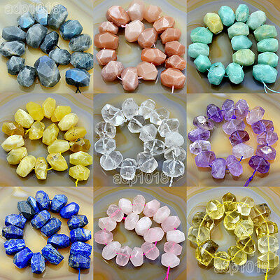 $10.99 • Buy Natural Gemstone Nugget Beads 8  Crystal Amethyst Citrine Prehnite Lazuli
