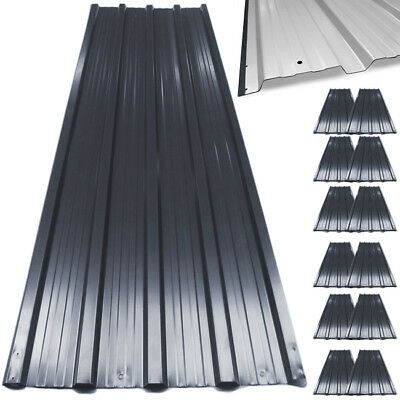 £79.95 • Buy 12x Metal Roof Sheets Corrugated Garage Shed Profile Galvanized Roofing 129x45cm