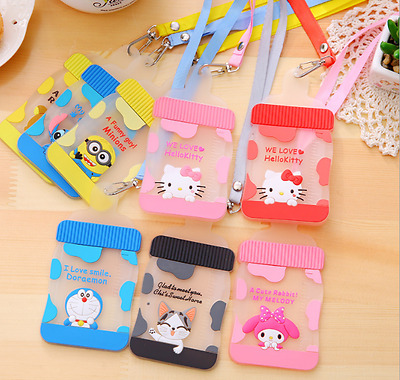 £2.99 • Buy ID Silicone Train Bus Card Pass Holder With String Cartoon Kids Fun Novelty Cat