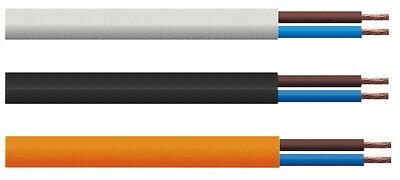 £1 • Buy 2 Core Flexible 6 Amp Mains Cable 0.75mm Sold By The Metre - Choice Of Colour