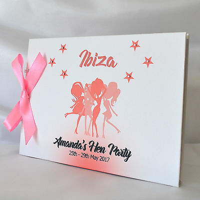 Personalised Hen Do Party Girls Holiday Guest Book Scrapbook Photo Album  • 11.99£